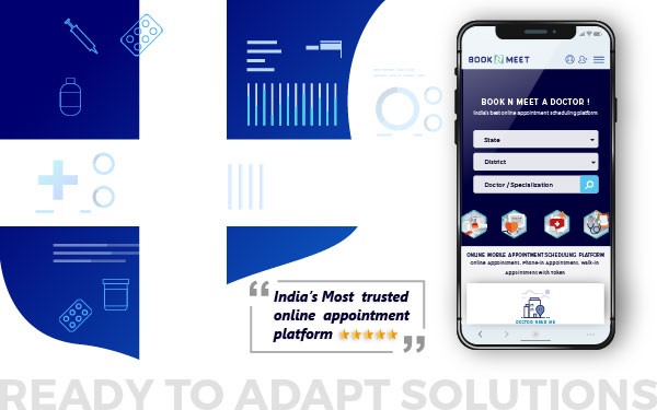 BOOKNMEET video consultation app for clinic / poly-clinic / hospital / patients