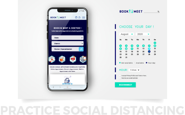 BOOKNMEET mobile app for patients